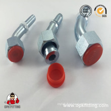 45° Metric Female Flat Seat Crimp Fitting (20241, 20241T)